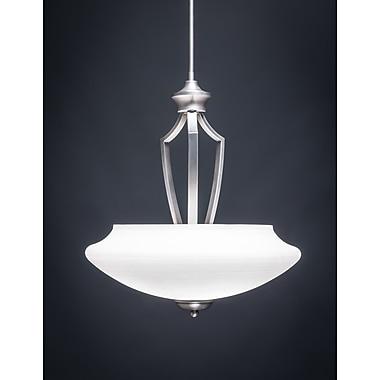 Toltec Lighting Zilo 3-Light Pendant; White
