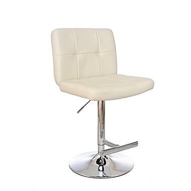 Ultimate Accents Adjustable Height Swivel Bar Stool; Cloud