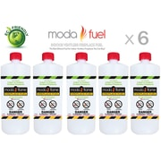 Moda Flame 1 Quart Bio Ethanol Fireplace Fuel Bottle (Set of 6)