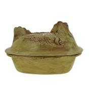 French Home  3.75-quart Cilantro Green Stoneware Chicken Roaster; Saffron