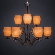Toltec Lighting Zilo 9-Light Shaded Chandelier