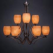 Toltec Lighting Zilo 9-Light Shaded Chandelier