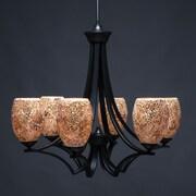 Toltec Lighting Zilo 6-Light Shaded Chandelier