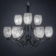 Toltec Lighting Zilo 9-Light Shaded Chandelier; Black