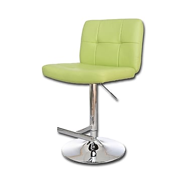 Ultimate Accents Adjustable Height Swivel Bar Stool; Lime