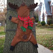 Evergreen Flag & Garden Splat, Reindeer Christmas Decoration