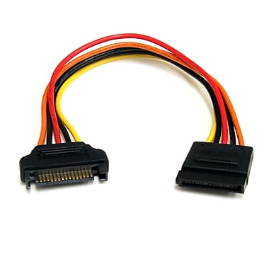 StarTech® 15 pin SATA Power Extension Cable, 8