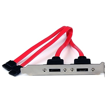 StarTech Support de plaque d'adaptation SATA vers eSATA, 2 ports