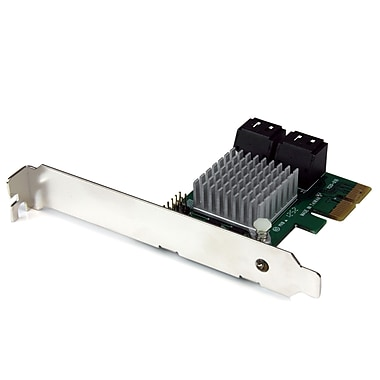 StarTech® PCI Express 2.0 SATA III 6Gbps RAID Controller Card with HyperDuo SSD Tiering, 4 Port