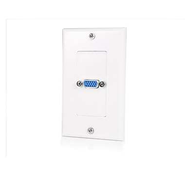 StarTech® Female VGA Wall Plate, White, Single Outlet 15-Pin