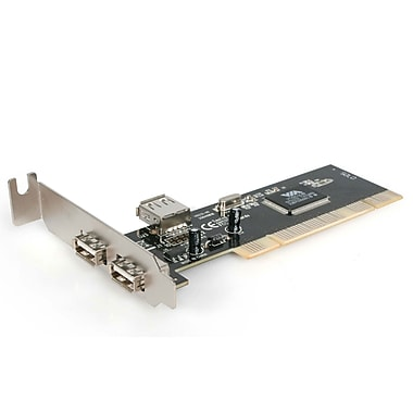 StarTech.com PCI Low Profile High Speed USB 2.0 Adapter Card, 3 Port