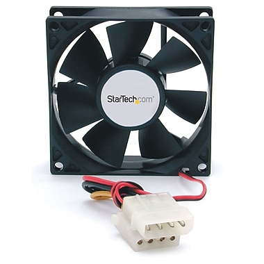StarTech® Dual Ball Bearing Computer Case Fan w/ LP4 Connector, 80 x 25mm