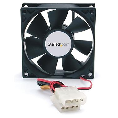 StarTech ® Double roulement à billes pour ventilateur d'ordinateur avec connecteur LP4, 80 x 25 mm
