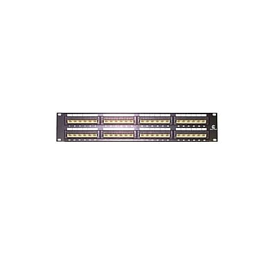 StarTech.com 2U Rackmount Cat5e 110 Patch Panel, 45 Degree, 48 Port