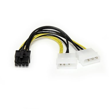StarTech® LP4 to 8 Pin PCI Express Video Card Power Cable Adapter, 6