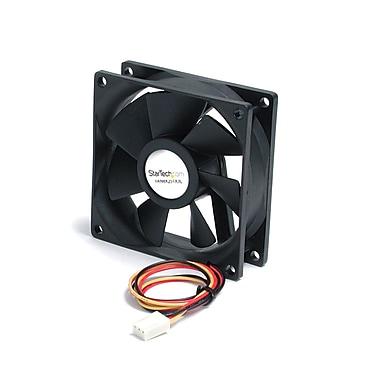 StarTech ® Roulement à billes pour ventilateur de boîtier silencieux avec connecteur TX3, 80 x 25 mm