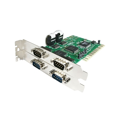 StarTech.com PCI RS232 Serial Adapter Card with 16550 UART, 4 Port