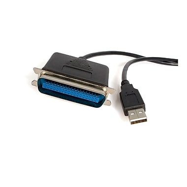 StarTech.com USB to Parallel Printer Adapter, M/M, 6 Ft.