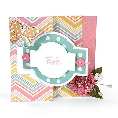 Sizzix Movers & Shapers L Die Card, Ornate Flip its 6