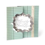 """Sizzix Movers & Shapers L Die Fancy Frame Card  6"""" x 8.75"""""""