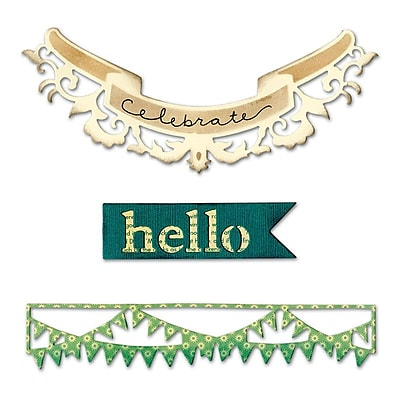 Sizzix Thinlits Hello Banners 3.5