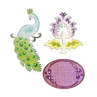 Sizzix Thinlits Die Peacock, Frame & Flower Set 2.25