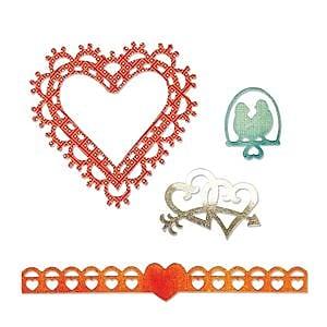 Sizzix Thinlits Die Love Birds & Hearts 1.25