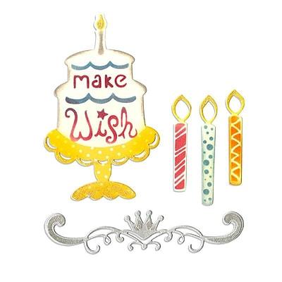 Sizzix Thinlits Die Birthday Candles, Cake & Crown Set 0.5