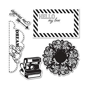 Sizzix Framelits Die With Stamps - Everyday Eclectic Set 1