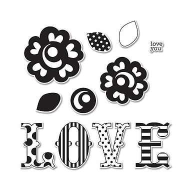 Sizzix Framelits Die With Stamps Love Set 0.37