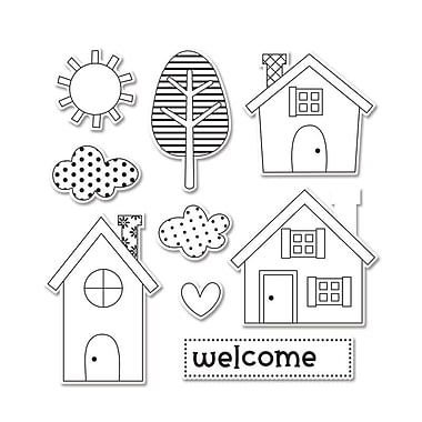 Sizzix Framelits Dies with Clear Stamps Welcome Home