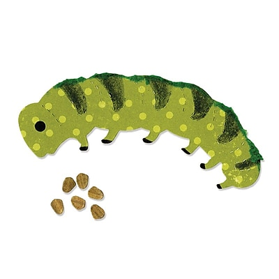Sizzix Caterpillar & Egg Die Green 5.5