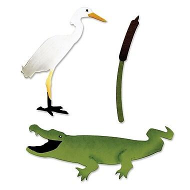 Sizzix Bigz Die Alligator Cattail & Egret 5.5