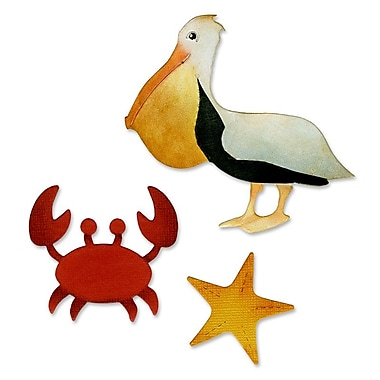 Sizzix Crab, Pelican & Starfish Die Multi-Colored 5.5