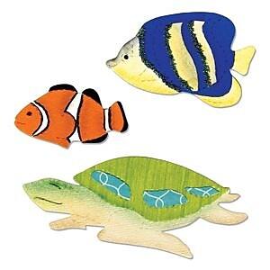 Sizzix Bigz Die Angelfish, Clownfish & Sea Turtle 5.5