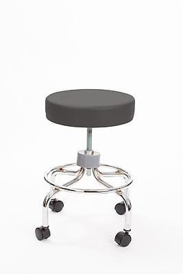 Brandt 22211 Revolving Stool with Footrest, Charcoal