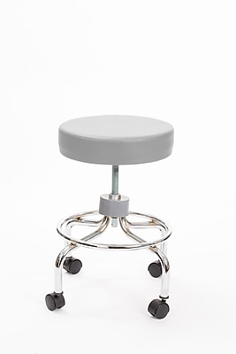 Brandt 22211 Revolving Stool with Footrest, Dove Gray