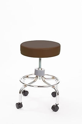 Brandt 22211 Revolving Stool with Footrest, Brown