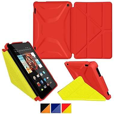 roocase Origami 3D Slim Shell Case, Red & Yellow