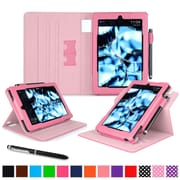 "roocase Dual View Folio Case Cover Stand for Amazon Kindle Fire HD 7"", Pink"