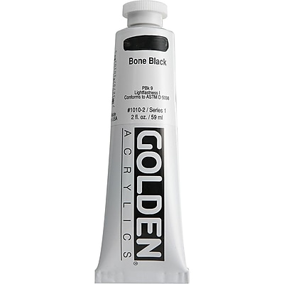 Pro-Art® Golden 2 oz. Heavy Body Acrylic Paint, Bone Black