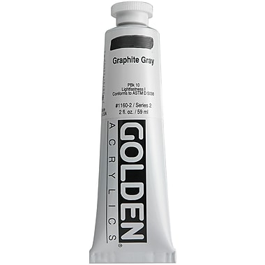 Pro-Art® Golden 2 oz. Heavy Body Acrylic Paint, Graphite Gray