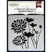 "Donna Downey Stencils 8 1/2"" x 8 1/2"" Signature Stencil, Bloom Group"