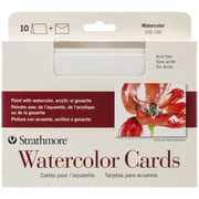 """Pro-Art® Strathmore 5"""" x 7"""" Cold Press Watercolor Cards, 10/Pack"""
