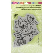 """Stampendous® 4"""" x 6"""" Sheet Cling Rubber Stamp, Timeless Rose"""