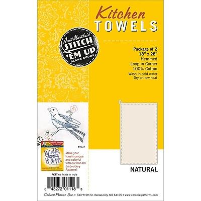 Aunt Martha's Stitch 'Em Up Hemmed Kitchen Towels, 28