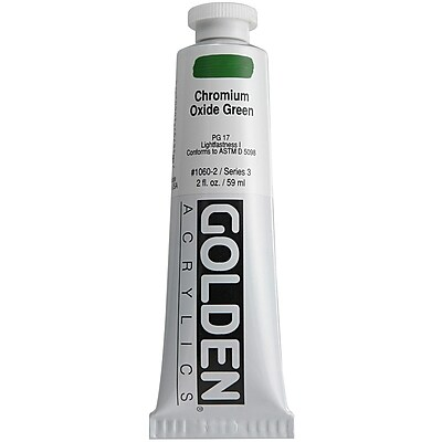 Pro-Art® Golden 2 oz. Heavy Body Acrylic Paint, Chromium Oxide Green