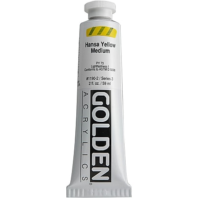 Pro-Art® Golden 2 oz. Heavy Body Acrylic Paint, Hansa Yellow Medium