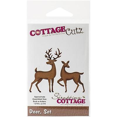 CottageCutz® Universal Steel Die, Deer Set