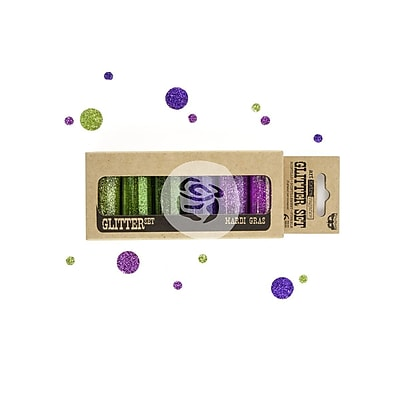 Prima Marketing™ Art Extravagance Glitter Set, Mardi Gras, 6/Pack